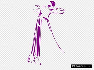 Woman Lineart Dancing