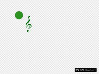 Green Music Pin
