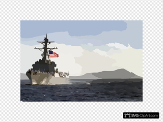 The Newly Commissioned Guided Missile Destroyer Uss Chafee (ddg 90) Sails Past Diamond Head Crater