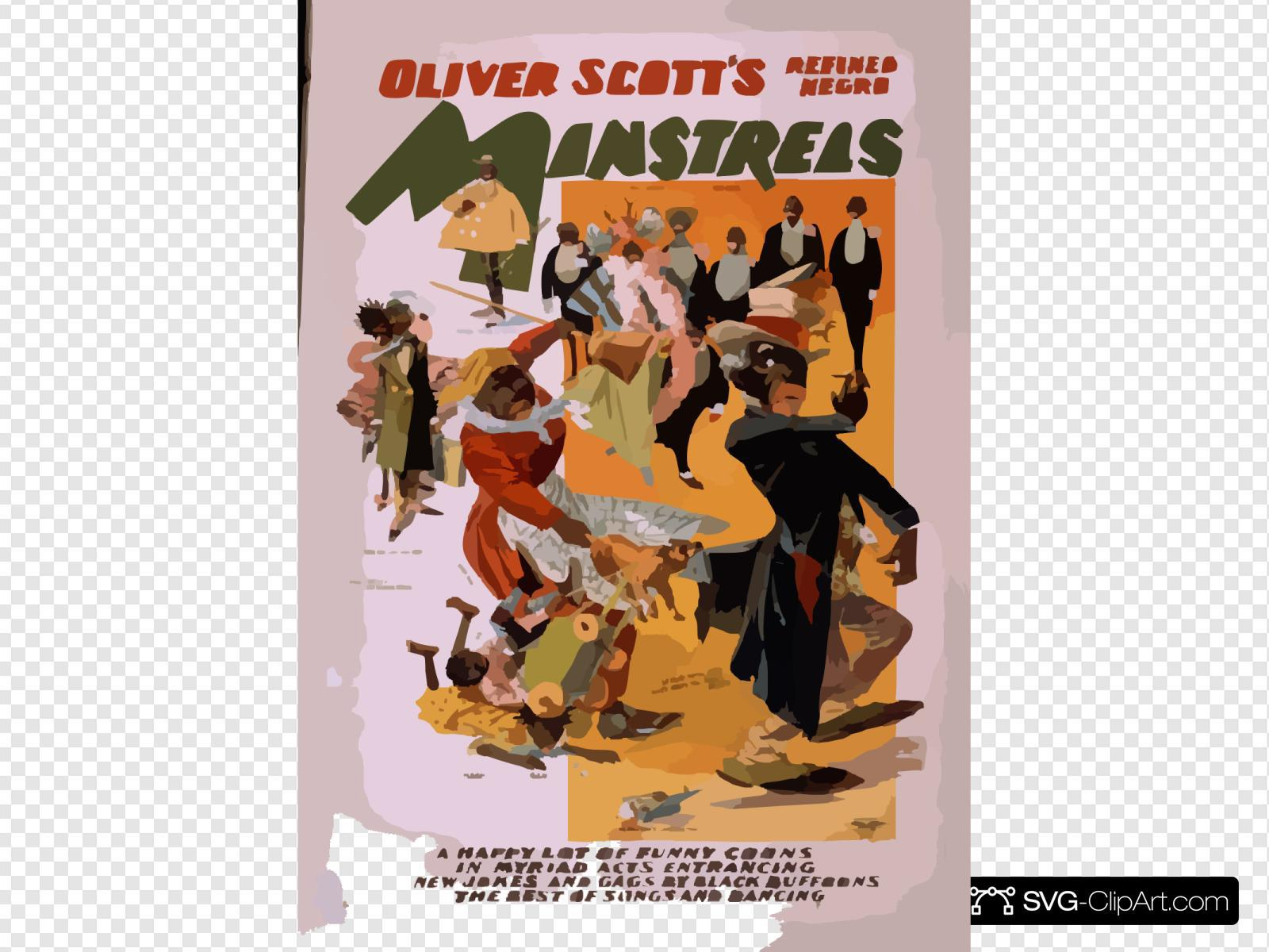 Oliver Scott S Refined Negro Minstrels A Happy Lot Of Funny Coons In Myriad Acts Entrancing, New Jokes And Gags By Black Buffoons, The Best Of Songs And Dancing.