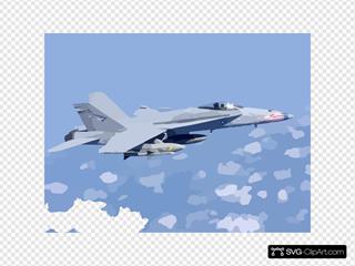 Uss Stennis - Hornet In Flight