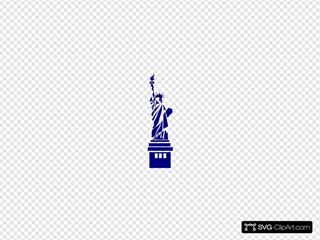 Statue Liberty Blue