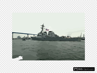 Uss Decatur (ddg 73) Steams Towards The Coronado Bridge As She Departs The Comforts Of Home And Begins Her Scheduled Deployment