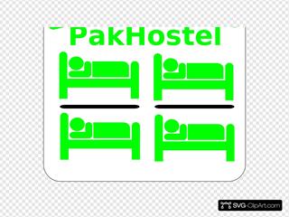 Hostel Clip Art - Gray/white