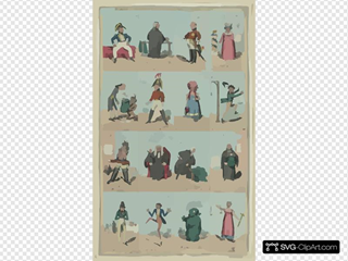 Characters In The New Piece Now Poforming [sic] At The Theatre Royal Cotten Garden 1820