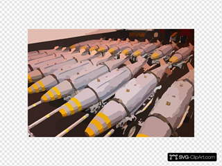 Gbu-31 Joint Direct Attack Munitions (jdam) Are Staged In The Hanger Bay