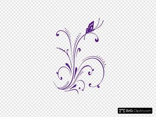New Purple Butterfly Scroll