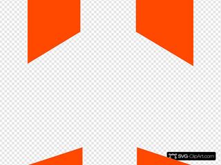 White Aeroplane With Orange Background