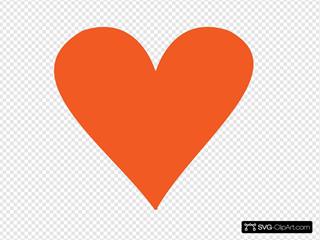 Orange Heart 2