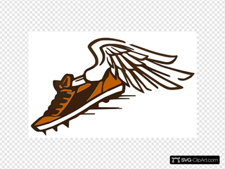 Orange & Brown Shoe White Bkgrnd