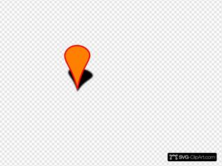 Orange Map Marker