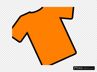 Orange T-shirt Angled