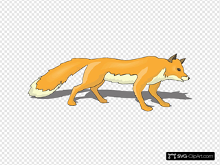 Fox With Shadow
