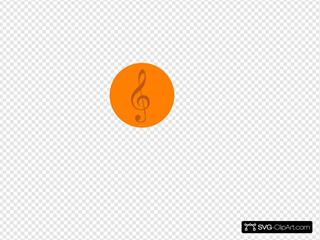 Orange Music Pin
