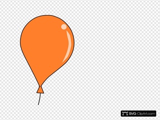 Orange Balloon String