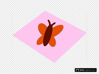 Orange Butterfly Pink And Pinkish Orange Background Magenta