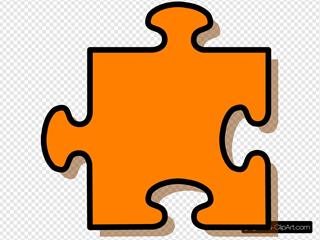 Orange Puzzle Piece