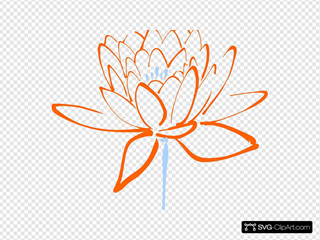 Orange Blue Lotus