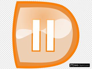 Orange Pause Button