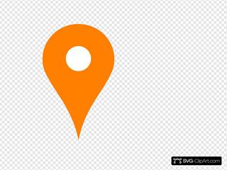 Orange Map Pin