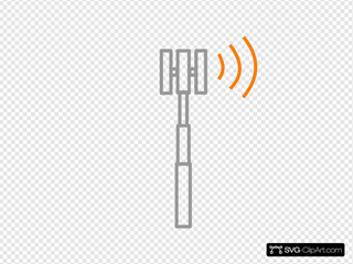 Antenne Grise Frequence Diriger  Droite Orange