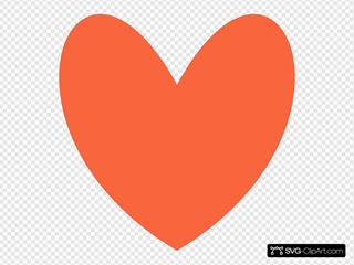 Orange Coral Heart