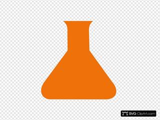 Orange Science Flask