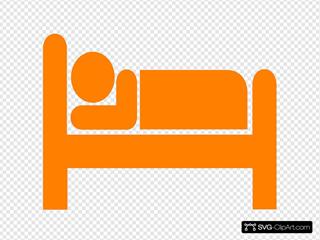 Orange Bed Clipart