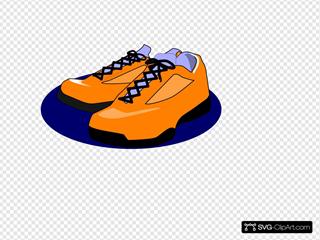 Orange Tennis Shoes