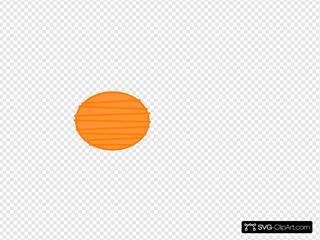 Orange Paper Lantern Clipart
