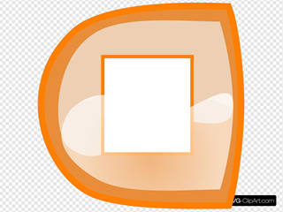 Orange Stop Button