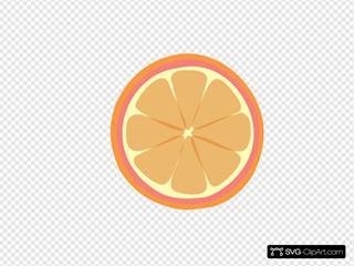 Pinkorangeborder Tangerine SVG Clipart