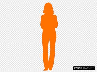 Solid Orange Person Outline
