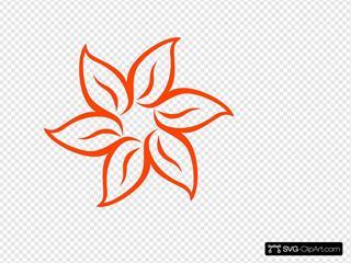 Dark Orange Flower