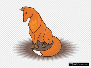 Fox Sitting In Shadow
