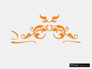 Burnt Orange Swirl 5