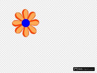 Flower Cartoon Orange