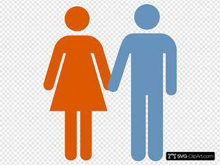 Man And Woman (blue Orange) Icon