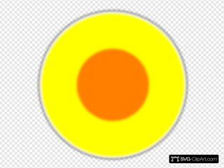 Fuzzy Yellow Orange Circle