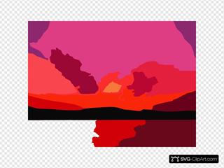 Sunset Sunroy Vector Colour Enhance Revector