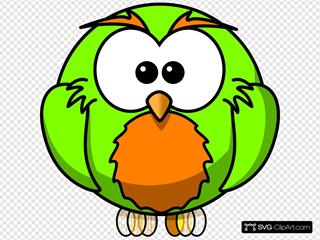 Green And Orange Hoot