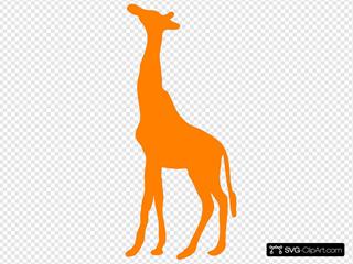 Giraffe Style Orange SVG Clipart