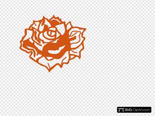 Burnt Orange Rose 2