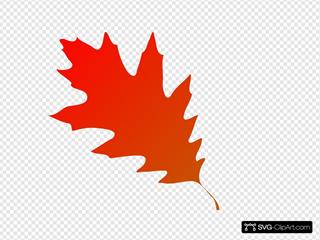 Autumn Leaf Red Orange