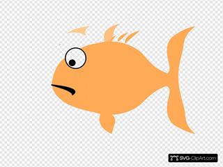 Orange Sad Fish