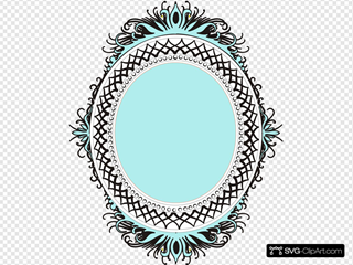 Oval Orange Blue Filled
