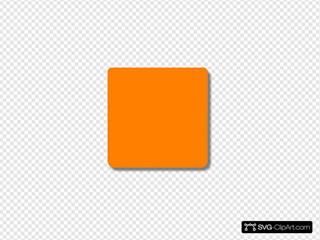 Orange Square Rounded Corners