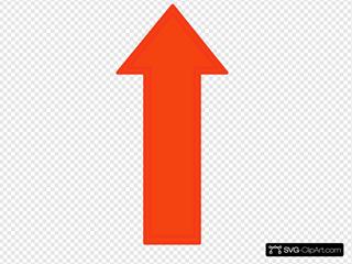 Orange Arrow Up