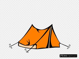 Orange Tent SVG Clipart