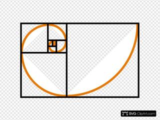 Fibonacci Spiral Orange